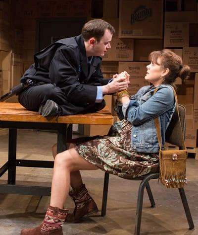 (l-r) Adi Stein as Dom and Jenna Sokolowski as Phyllis (Photo: Teresa Wood)