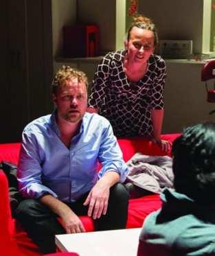 Tom Story as Lewis and Birgit Huppuch as Dana (Photo: Igor Dmitry)