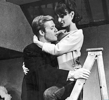 Robert Redford and Elizabeth Ashley in Barefoot in the Park, 1963. Neil Simon's Broadway debut (Photo: John Dominis/The LIFE Picture Collection/Getty Images)