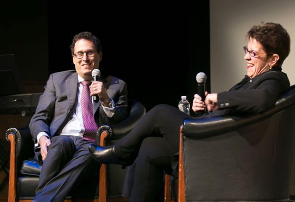 Tony Kushner and Molly Smith Monday, Nov 17th at Theater J (Photo: Roman Petruniak)
