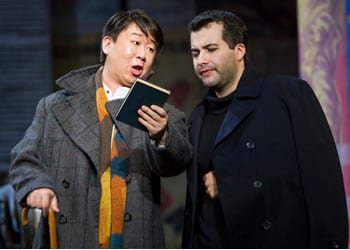 From the Domingo-Cafritz cast: Wei Wu as Colline and Javier Arrey as Marcello. (Photo Scott Suchman)