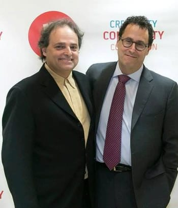 (l-r) Ari Roth and Tony Kushner at the Cafritz Center benefit (Photo: Roman Petruniak)