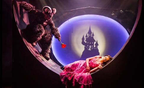 Vato Tsikurishvili as The Beast and Irinka Kavsadze as Belle (Photo by Johnny Shryock)
