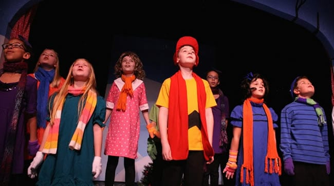 The Peace cast of A Charlie Brown Christmas (Photo: Jonathan Harvey)