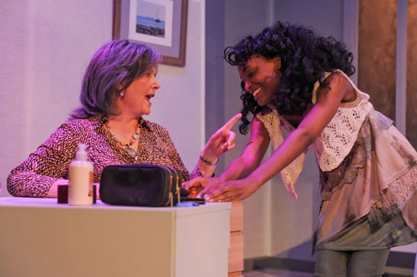 (l-r) Cornelia Hart and Nicole Ruthmarie in Can't Complain from Spooky Action Theater (Photo: Franc Rosario)