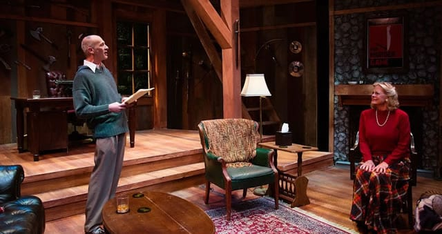 Peter Holdway and Susan D. Garvey in Deathtrap at NextStop Theatre (Photo: Traci J. Brooks Studios)