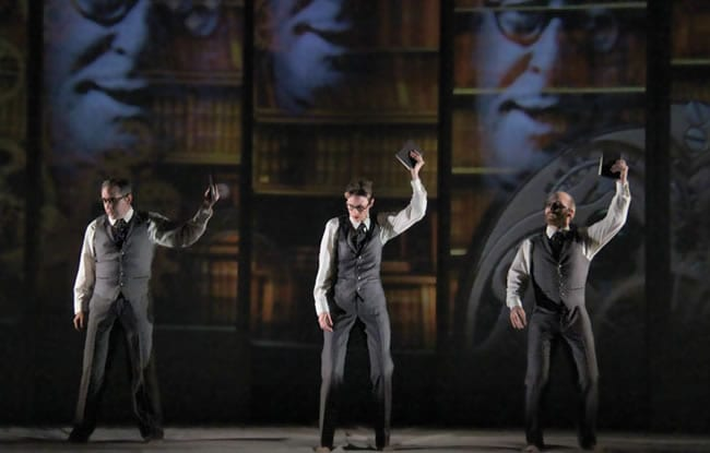 (l-r) Michael Frederic, Christa Scott-Reed and Joel Rainwater (l-r) Michael Frederic and Joel Rainwater in The Great Divorce (Photo: courtesy of Fellowship of Performing Arts)