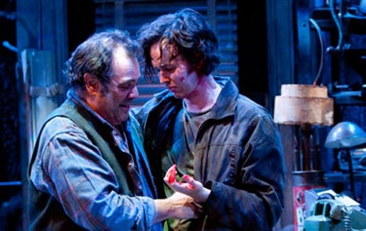 Edward Gero and Jimmy Davis in American Buffalo, Studio Theatre, 2010