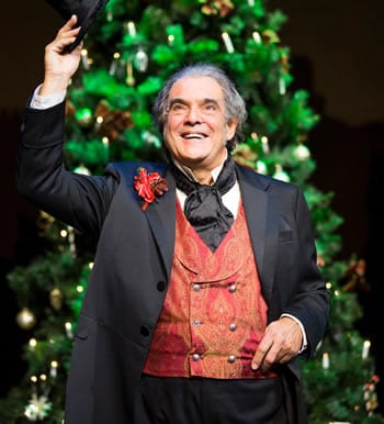 Edward Gero as Ebenezer Scrooge in this years Christmas Carol at Ford's Theatre. (Photo: Scott Suchman)