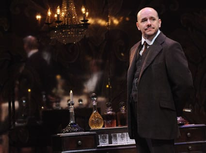 Chris Genebach as Inspector Goole in An Inspector Calls at Everyman Theatre (Photo: Stan Barouh)
