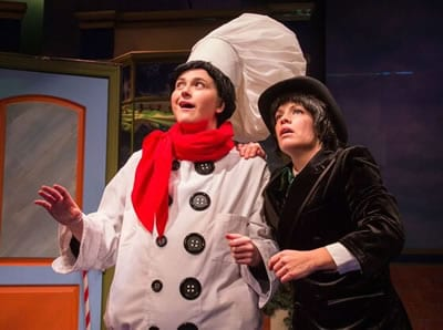 (l-r) Judith Ingber and Erin Weaver in A Lump of Coal for Christmas from Adventure Theatre MTC. (Photo: Michael Horan)