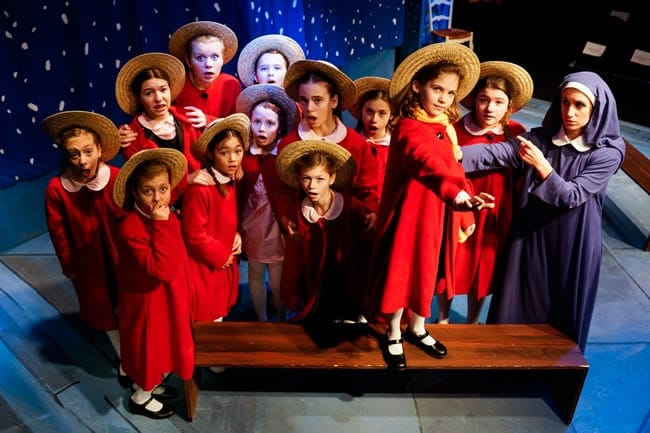 The cast of Madeline's Christmas (Photo: Gary Mester)