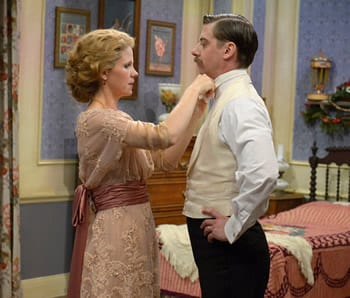 Kelli O'Hara and Christian Borle as Mrs and Mr Darling (Photo: Virginia Sherwood/NBC)