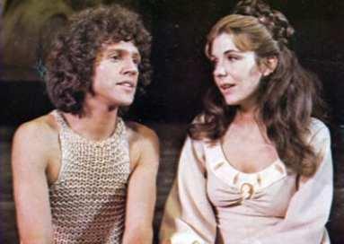 John Rubinstein and Jill Clayburgh, Pippin, 1977