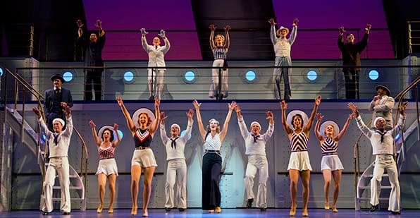 The cast of the National Tour of Anything Goes (Photo: Jeremy Daniel)