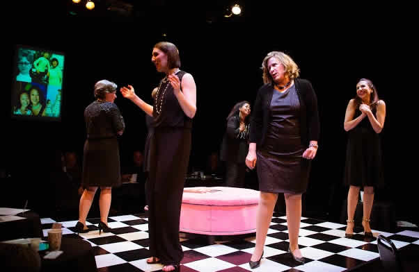 Marilyn Bennett, Shaina L Murphy, Tamieka Chavis, Sarah Holt and Vivian Allvin in Love, Loss and What I Wore (Photo by Traci Brooks)