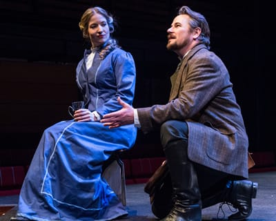 Elizabeth Kelly and Ron Heneghan as Kathryn and Dr. Astrov (Photo: Teresa Castracane)