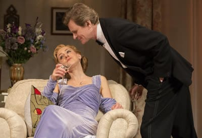 Charlotte Parry as Ruth Condomine and Charles Edwards as Charles Condomine (Photo: Joan Marcus)