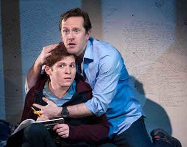 Jake Winn as Luke and Jeffry Denman as Michael in Kid Victory (Photo: Margot Schulman)