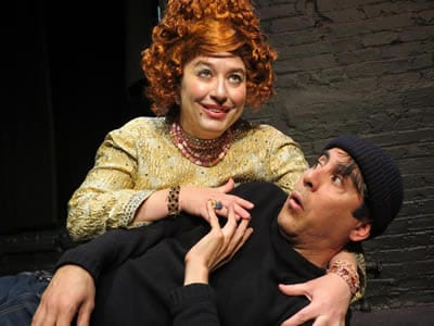 Rachel Reed and Jerry Herbilla. (Photo courtesy of Theatre Du Jour)