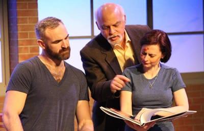 Aaron Tone as James, Jim Epstein as Richard and Aly B. Ettman as Sarah. ( Photo: Eddy Parker)