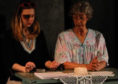 Ann Fraistat and Nancy Blum in God Don' Like Ugly at Venus Theatre