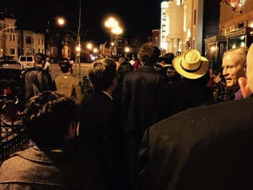 The celebratory crowd gather outside the Howard Theatre, ready to party! (Photo: Jennifer Clements)