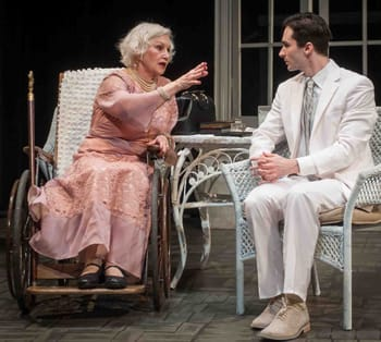 Brenda Currin and Jake Wynne-Wilson in SOuthern Rep's production of Suddenly Last Summer (Photo by John B. Barrois)
