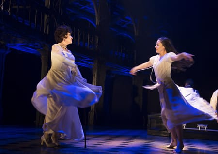 Chita Rivera and Michelle Veintimillia in a scene from The Visit. (Photo: Thom Kaine)