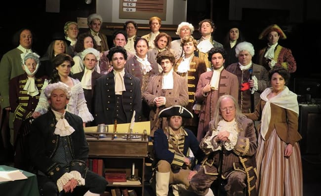 The cast of 1776 at Toby's Dinner Theatre