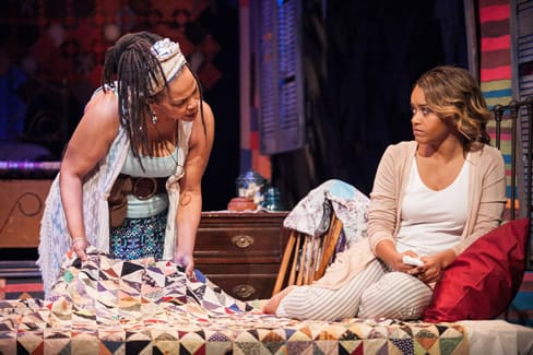 (l-r) Tonye Patano as Clementine and Meeya Davis as Amber in Katori Hall's The Blood Quilt at Arena Stage at the Mead Center for American Theater (Photo: C. Stanley Photography)