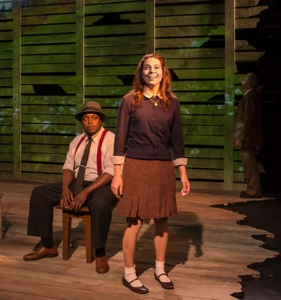 Ann Marie Gideon as Anne Frank and Enoch King as Emmett Till (Photo: Chris Banks)