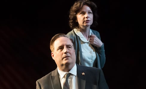 Michael Russotto and Susan Lynskey in The Letters at MetroStage (Photo: Chris Banks)