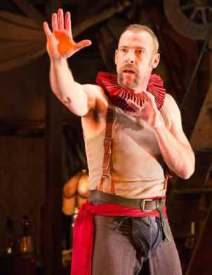 Ian Merrill Peakes as The Player  in Rosencrantz and Guildenstern Are Dead (Photo: Teresa Wood)