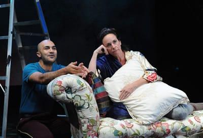 Maboud Ebrahimzadeh and Susan Rome. (Photo: Stan Barouh)