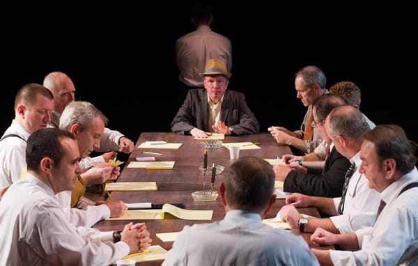 The Cast of Twelve Angry Men from American Century Theater (Photo: Johannes Markus)