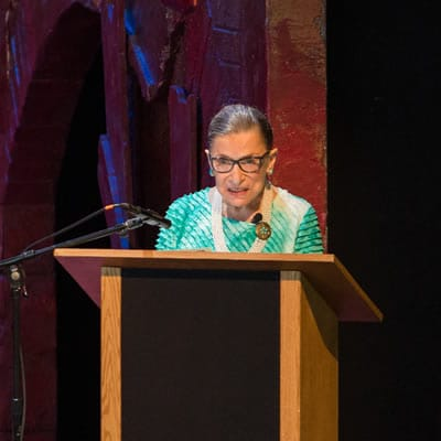 Justice Ruther Bader Ginsburg at The Glimmerglass Festival, 2015 (Photo: Karli Cadel