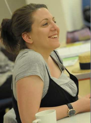 Clare Lizzimore in rehearsal (Photo: Robert Day)