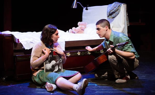 Isabelle Smelkinson and  Tiziano D'Affuso, Dogfight at Keegan Theatre (Photo: Traci J. Brooks Studios)