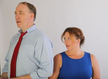 Harv Lester and Katie McManus in Family Portrait (Photo: Michael Murphy)