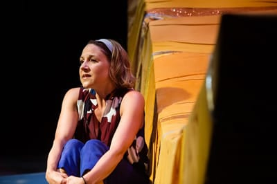 Ginna Hoben as Jenn in No Spring Chicken at NextStop Theatre (Photo: Traci J. Brooks Studios)