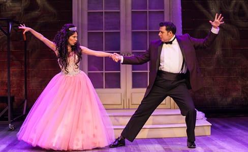 Elia Saldaña as Victoria del Rio and Fidel Gomez as Dr. Diego Mendoza in Destiny of Desire at Arena Stage (Photo; C. Stanley Photography)