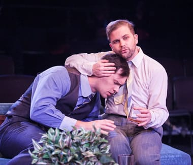 (l-r) James Finley (Liseo), and Connor J. Hogan (Leon) in Friendship Betrayed Photo: C. Stanley Photography)