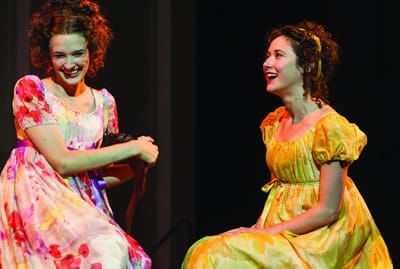 Erin Neufer and Kate Abbruzzese in Pride and Prejudice at Center Stage (Photo: Richard Anderson)