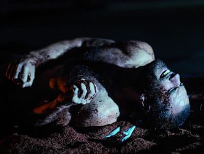 Iker Lastra as Victor in Yerma at GALA Hispanic Theatre (PHoto: Stan Weinstein)