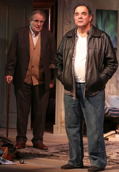 Michael Tolaydo and Edward Gero in The Night Alive at Round House Theatre (Photo: Cheyenne Michaels)