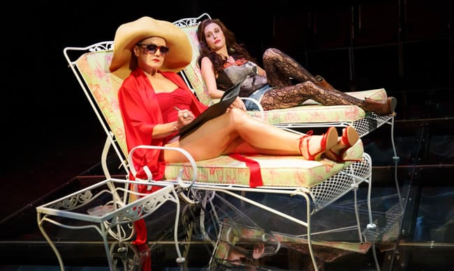 Alison Fraser and Caissie Levy in First Daughter Suite, a new musical by Michael John LaChiusa (Photo: Joan Marcus)