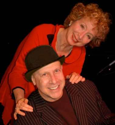 Marilyn Hausfeld and musician Alex Rybeck (Photo courtesy of Marilyn Hausfeld)