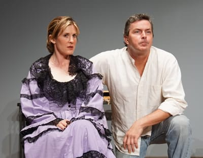 Cate Brewer and Doug Krehbel in Hootenanny from Guillotine Theatre (Photo: Lisa Alapick)