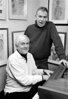 (l-r) John Kander and Fred Ebb